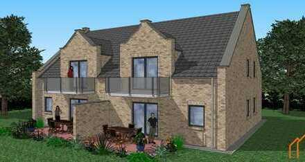 Neubau: Moderne Wohnung mit Balkon in Sackgassenendlage in Leer-Loga (KFW55)