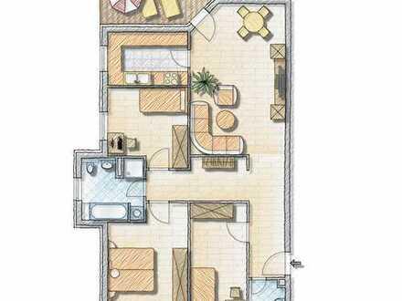 Moderne 4-Zimmer Wohnung! Einbauküche, Aufzug und Hausmeisterservice!