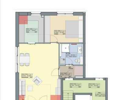 Stylische 2-Zi.-DG-Wohnung mit EBK und Balkon