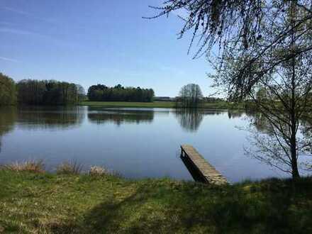 NATUR PUR ++ idyllisches Grundstück mit Fischweiher ++