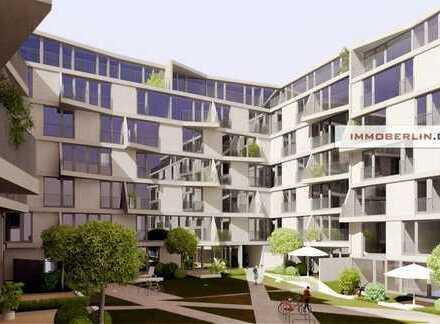 IMMOBERLIN: Ersteinzug in Toplage - Neubauwohnung mit Südwestloggia & Gartenterrasse