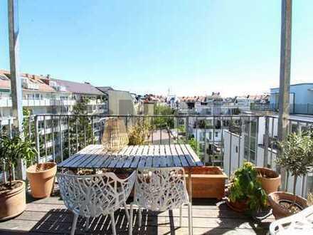 Charmante, vermietete Altbauwohnung mit 2 Balkonen in der Maxvorstadt!