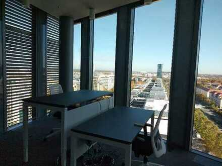 Mondernes Büro in den Münchener Highlight Towers All-in-Miete