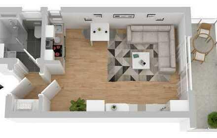 schöne 1- Zimmer Wohnung mit Loggia