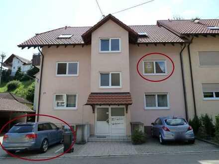 Freundliche, ruhige 2-Zimmerwohnung mit EBK und Balkon in Schwörstadt-Dossenbach für Einzelperson