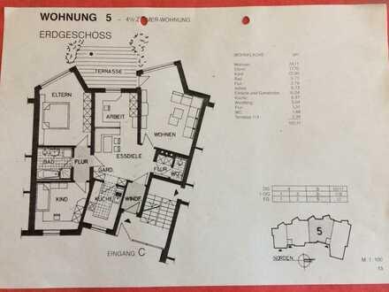 Top renovierte 4 Zimmer Wohnung mit Carport in bester Lage am Burgberg in Erlangen
