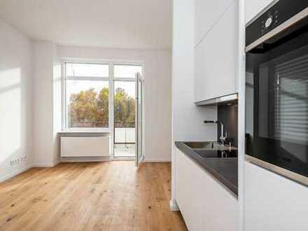 Einbauküche, Duschbad, Parkett, Balkon & Waschtrockner