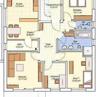 Erstbezug: schöne 4-Zimmer-Wohnung im OG mit EBK und Balkon in Schrobenhausen