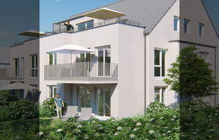 Drei - Zimmer Erdgeschosswohnung (1) mit gr. Garten u. mögl. Doppelcarport (Südlage) .