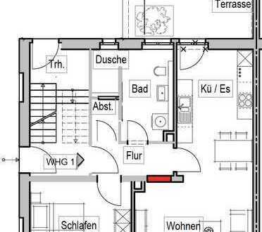 Modern geschnittene EG-Wohnung mit Terrasse in Schriesheim
