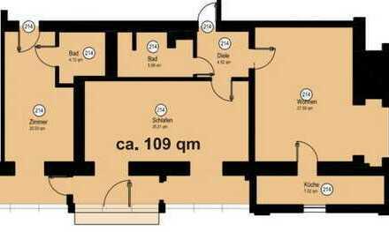 Sehr schöne drei Zimmer Wohnung