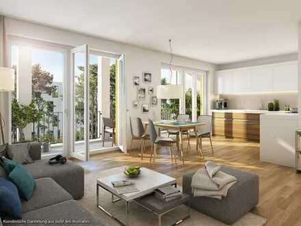 Modern ausgestattete 4-Zimmer-Etagenwohnung mit geschützter Loggia und 2 Bädern