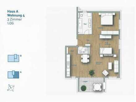 3,5-Zimmer-Wohnung - Wohnung 4 im 1.OG