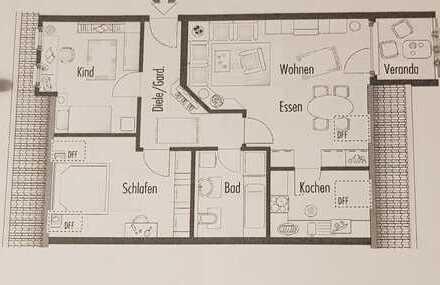 Sanierte 3,5-Zimmer-Dachgeschosswohnung mit Balkon und EBK in Neuffen