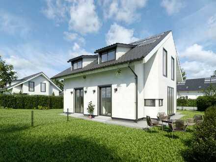 Neubau: Helle, massiv gebaute DHH mit Garten und Terrasse in Groß Glienicke