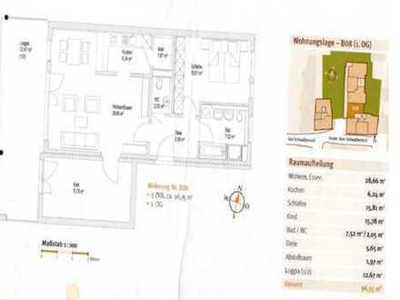 Moderne Wohnung in Top Lage mit riesiger Loggia!