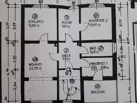 Erstbezug: attraktive 4-Zimmer-Wohnung mit Einbauküche und Balkon in Bamberg