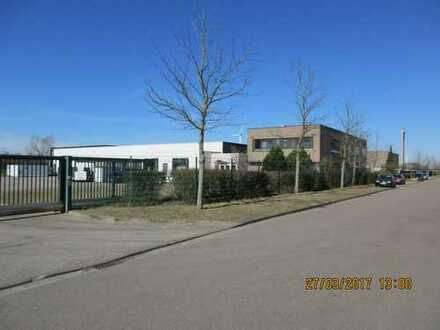 stillgelegte Fabrik mit großer Freifläche