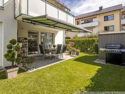 WALSER: Wunderschöne 4-Zimmer-Gartenwohnung mit Süd-Terrasse in Unterhaching