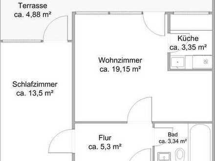 """""""""""Nach Komplettsanierung"""""""" Schicke 2-Zimmerwohnung mit großer Loggia"""