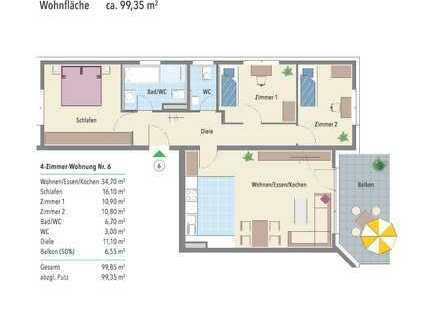 Einziehen und wohlfühlen! 4-Zimmer Wohnung am Neckar