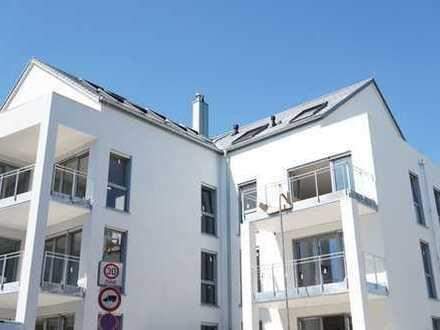 Neubau: freundliche 4-Zimmer-Wohnung mit Garten in Rheinnähe