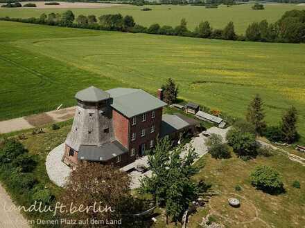 Sanierte Doppelmühle auf einem großen Grundstück inmitten der Weite