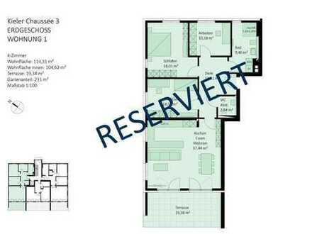 RESERVIERT - 4 Zimmer, ebenerdig mit großem Gartenanteil und viel Bewegungsfreiheit
