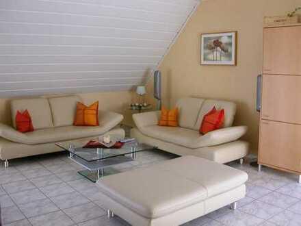 Schöne helle Wohnung mit Balkon und Dachstudio im Zweifamilienhaus