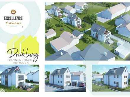 DREIKLANG N°1 - Freistehendes Traumhaus mit Terrasse und Dachterrasse, Garage, Carport, Geräteraum