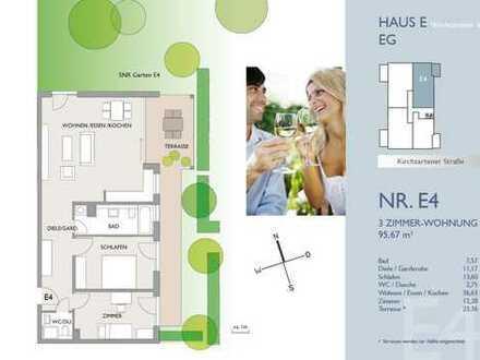 Schöne 3-Zi.-Wohnung mit großem Privatgarten - Erstbezug!