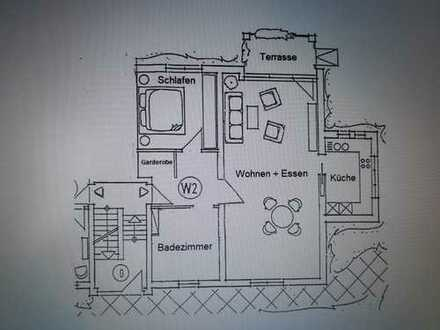 Schöne 2-Zimmer-EG-Wohnung mit Terasse, Garten und Einbauküche in Senden