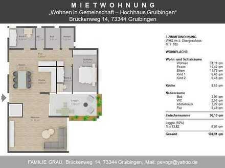 Attraktive 3-Zimmer-Wohnung in Gruibingen, langfristig zu vermieten.