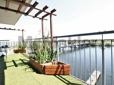 ++Exklusives Penthouse am Wasser! ++ 2 Sonnenterrassen + TG-Stellplatz inklusive++