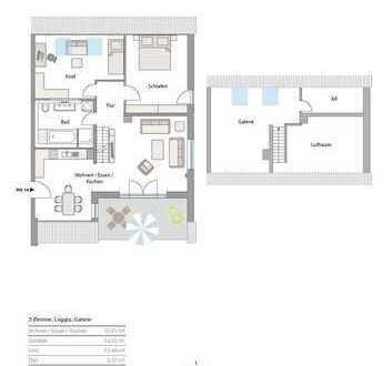 Neubau in Göggingen - exkl. 3 Zi-Galerie-Whg.,mit Loggia+TG!in Südausrichtung! großer TG-Stellplatz!