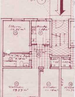 Geldanlage: Freistehende, gepflegte 3-Zimmer-Hochparterre-Wohnung mit Balkon in Schongau