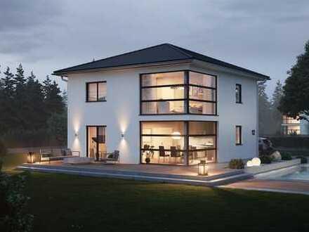 Massivhaus mit architektonischem Highlight in Wolken