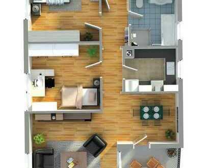 attraktive 3-Zimmer-Wohnung mit Einbauküche