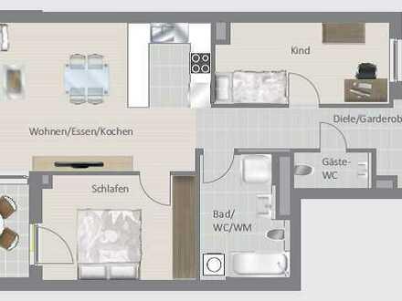 Moderne 3,5-Zimmer-Wohnung - Erstbezug!