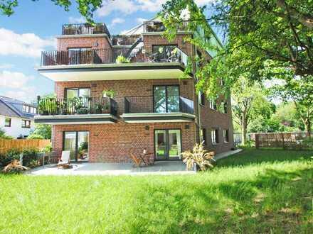 Moderne, unmöblierte Wohnung mit Garten, befristet auf 5 Jahre zu vermieten