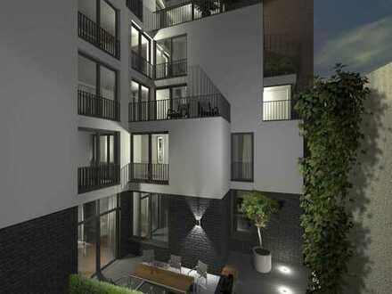 Neubau in Friedrichstadt: Exklusive Maisonettewohnung mit Garten