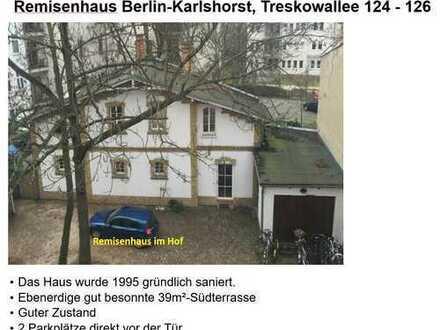 Freistehendes Remisen-Haus große Terrasse Berlin-Karlshorst 150m S-Bahn+ruhig, Familie mit 3 Kindern