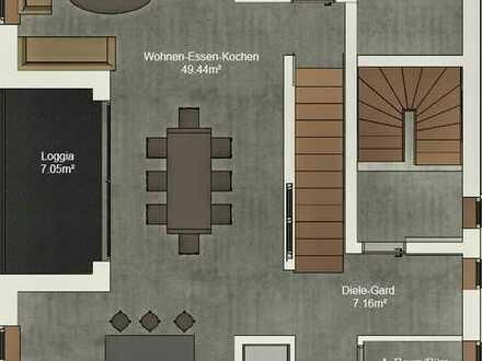 Große Maisonette Wohnung mit Blick auf die Haardt