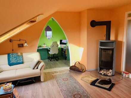 Außergewöhnliche 3-Zimmerwohnung im romantischen Staufen mit Blick auf die Burgruine