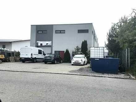 Gewerbehalle mit Büros und luxuriöser Wohnung und guter Verkehrsanbindung bei Kaufbeuren