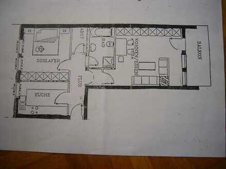 Gepflegte 2-Zimmer-Hochparterre-Wohnung mit Balkon und EBK in Weil der Stadt