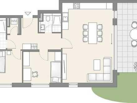 3-Zimmer Erdgeschoss mit traumhaftem Garten (702)