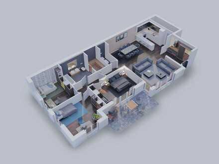 Komfortable 4-Zimmer Wohnung mit Gartenanteil