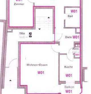Gepflegte 3-Zimmer-EG Wohnung mit Balkon und EBK in Ulm