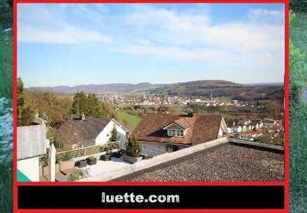 herrlich sonnig gelegene 3-Zimmer-Wohnung, Fern- und Alpenblick, unverbauter Blick ins Grüne, 2 B...